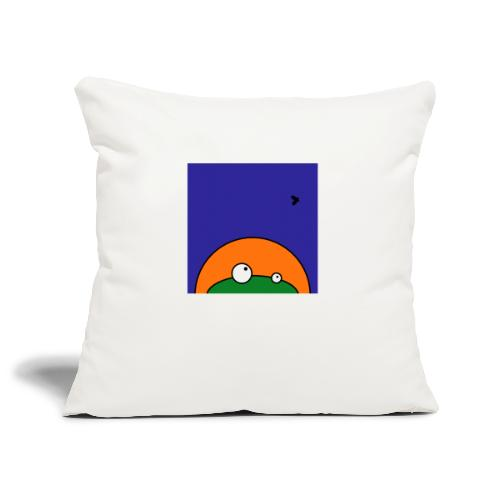 Hungry Frog - ready for dinner - Sofa pillowcase 17,3'' x 17,3'' (45 x 45 cm)