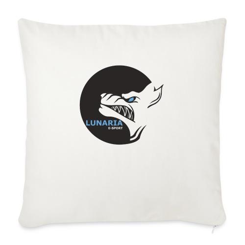 Lunaria_Logo tete pleine - Housse de coussin décorative 45x 45cm