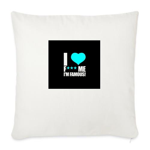 I Love FMIF Badge - Housse de coussin décorative 45x 45cm