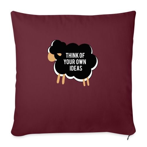 Think of your own idea! - Sofa pillowcase 17,3'' x 17,3'' (45 x 45 cm)
