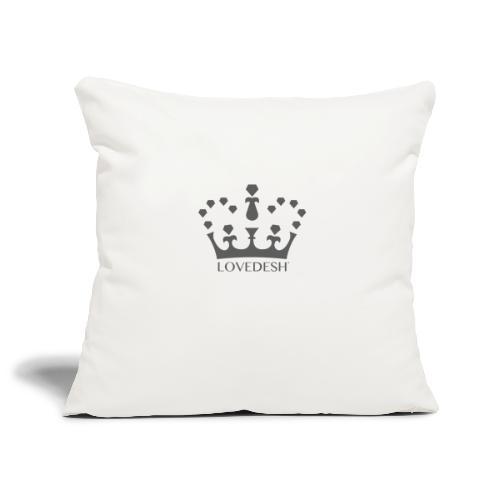 Lovedesh Crown (Dark Grey) - Sofa pillowcase 17,3'' x 17,3'' (45 x 45 cm)