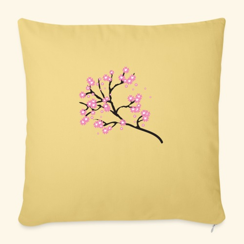 Pink blossoms branch - Sofa pillowcase 17,3'' x 17,3'' (45 x 45 cm)