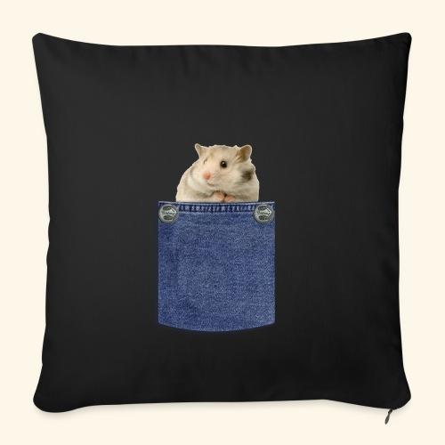 hamster in the poket - Copricuscino per divano, 45 x 45 cm
