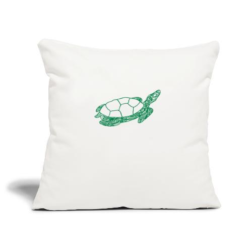 Art Deco Space Turtle - Soffkuddsöverdrag, 45 x 45 cm