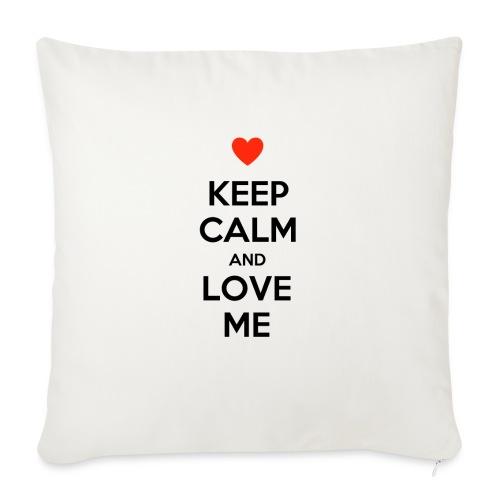 Keep calm and love me - Copricuscino per divano, 45 x 45 cm