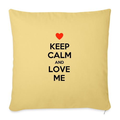 Keep calm and love me - Copricuscino per divano, 45 x 45 cm