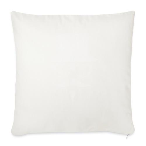 Moustachu White (H) - Housse de coussin décorative 45x 45cm