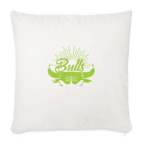 Toros verdes, Bulls BasketBall deporte - Funda de cojín, 45 x 45 cm