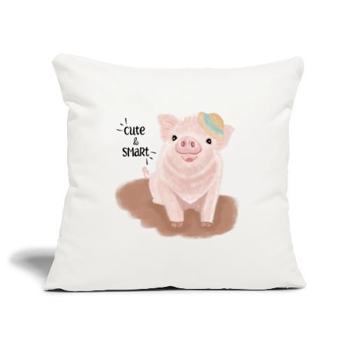Cute & Smart Pig - Sofa pillowcase 17,3'' x 17,3'' (45 x 45 cm)