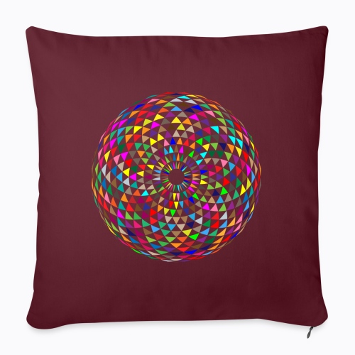 mandala sphere - Sofa pillowcase 17,3'' x 17,3'' (45 x 45 cm)