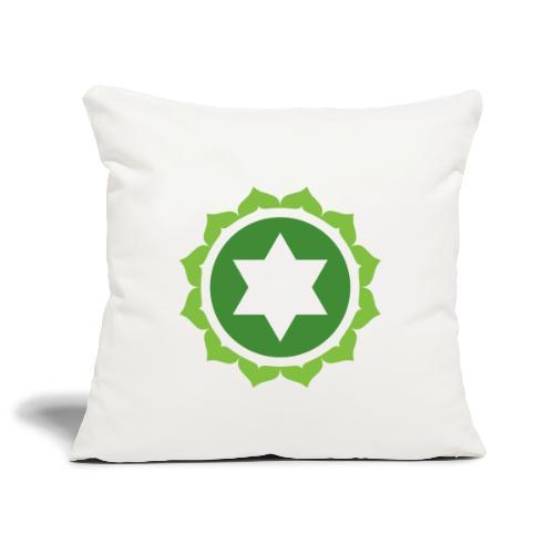 The Heart Chakra, Energy Center Of The Body - Sofa pillowcase 17,3'' x 17,3'' (45 x 45 cm)