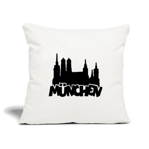 München Skyline - Sofakissenbezug 44 x 44 cm