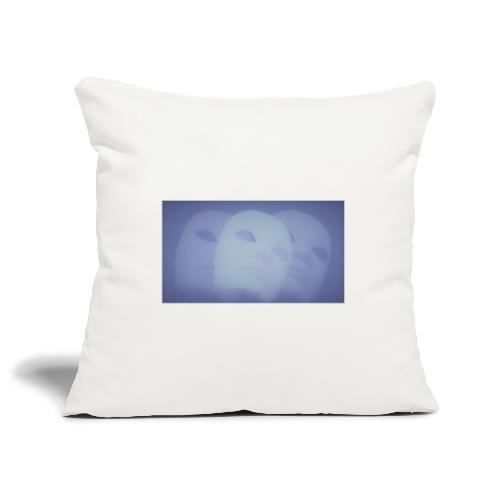Maschere celeste - Copricuscino per divano, 45 x 45 cm
