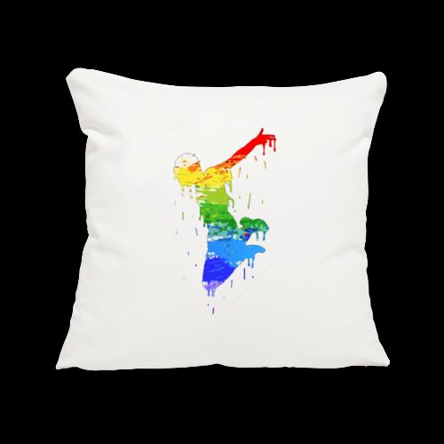 jump design paint - Sofa pillowcase 17,3'' x 17,3'' (45 x 45 cm)
