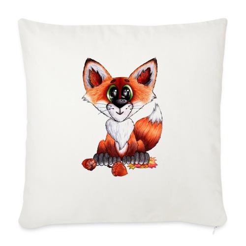 llwynogyn - a little red fox - Sofa pillowcase 17,3'' x 17,3'' (45 x 45 cm)