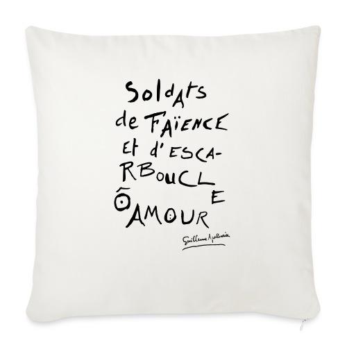 Calligramme - Soldat de faillance - Housse de coussin décorative 45x 45cm