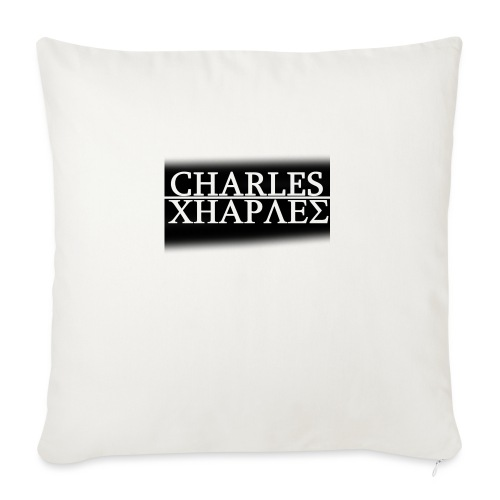 CHARLES CHARLES BLACK AND WHITE - Sofa pillowcase 17,3'' x 17,3'' (45 x 45 cm)