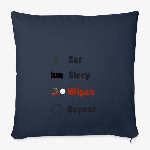 Eat Sleep Wigan Repeat - Sofa pillowcase 17,3'' x 17,3'' (45 x 45 cm)