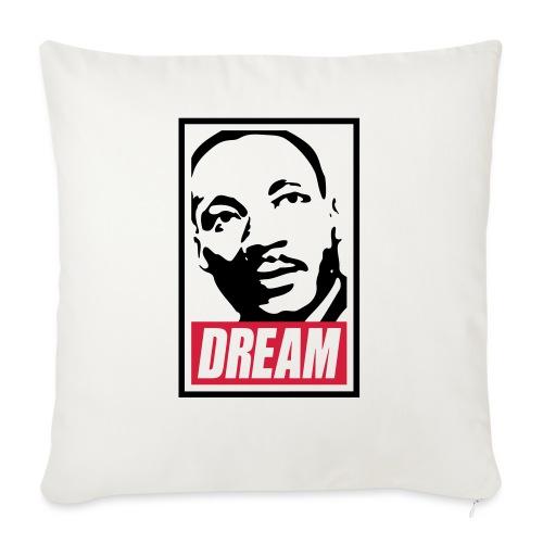 Obey x Dream MLK 2c_blanc - Housse de coussin décorative 45x 45cm