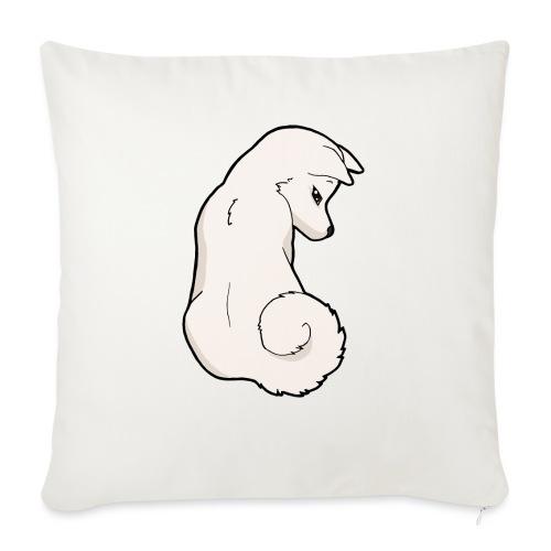 Akita bianco - Copricuscino per divano, 45 x 45 cm