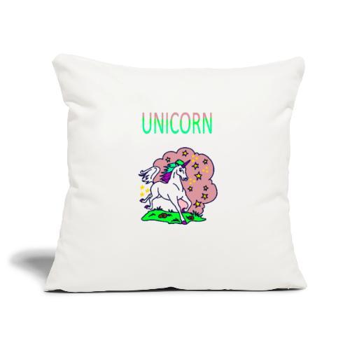 Einhorn unicorn - Sofakissenbezug 44 x 44 cm
