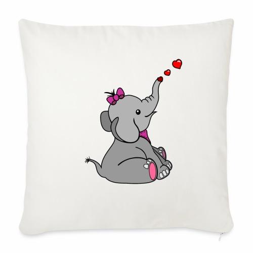 Elefant - Sofakissenbezug 44 x 44 cm