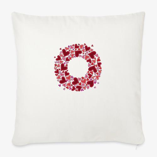 Wieniec z serc - Poszewka na poduszkę 45 x 45 cm