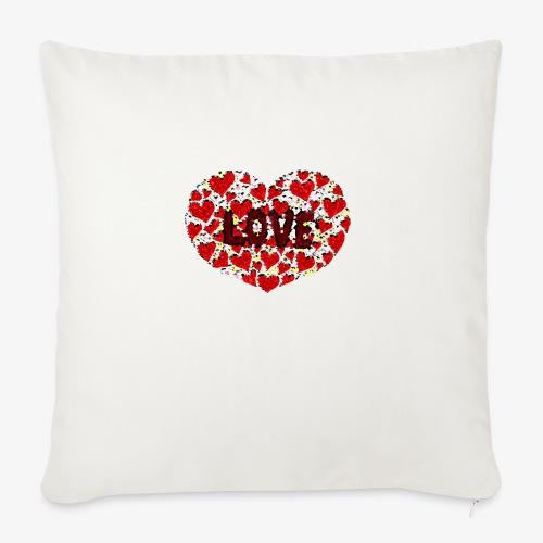 Stokrotne serce - Poszewka na poduszkę 45 x 45 cm