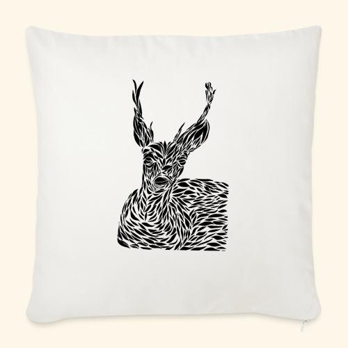 deer black and white - Sohvatyynyn päällinen 45 x 45 cm