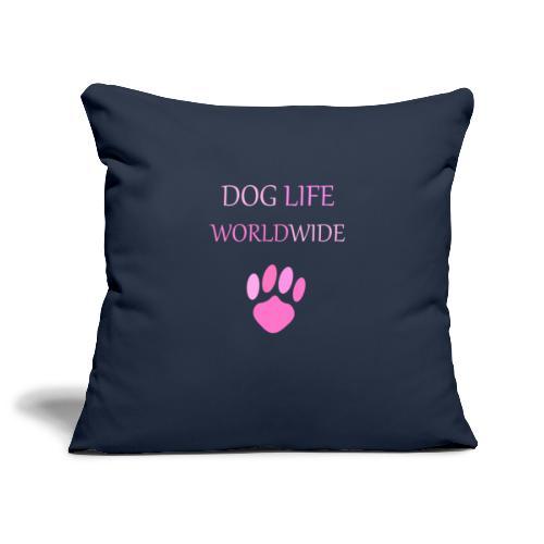 Pink Paw Print - Sofa pillowcase 17,3'' x 17,3'' (45 x 45 cm)