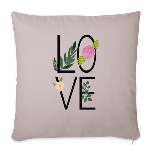 Love Sign with flowers - Sofa pillowcase 17,3'' x 17,3'' (45 x 45 cm)