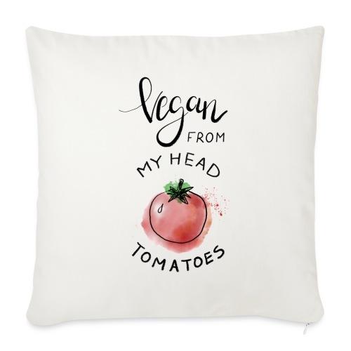 Vegan from my head Tomatoes - Sofakissenbezug 44 x 44 cm