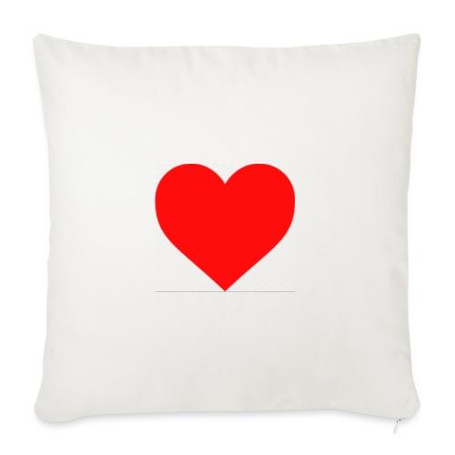 Hjärta - Soffkuddsöverdrag, 45 x 45 cm