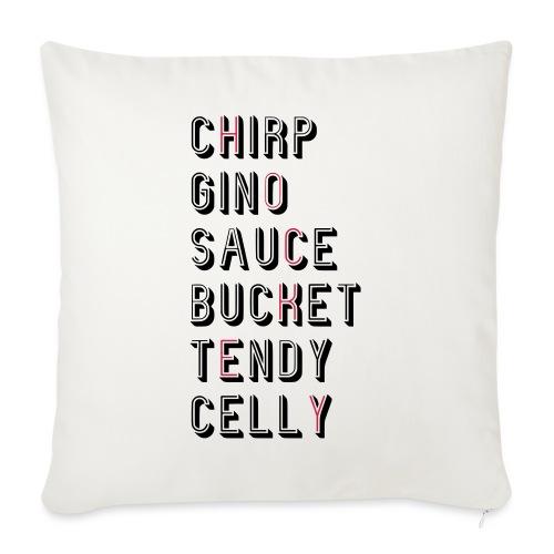 Hockey Slang - Chirp Gino Sauce Bucket Tendy Celly - Sofa pillowcase 17,3'' x 17,3'' (45 x 45 cm)