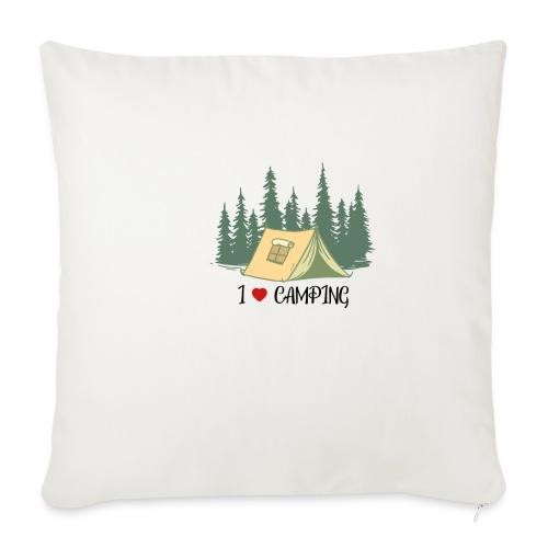 I love Camping Ich liebe Campieren Wandern - Sofakissenbezug 44 x 44 cm