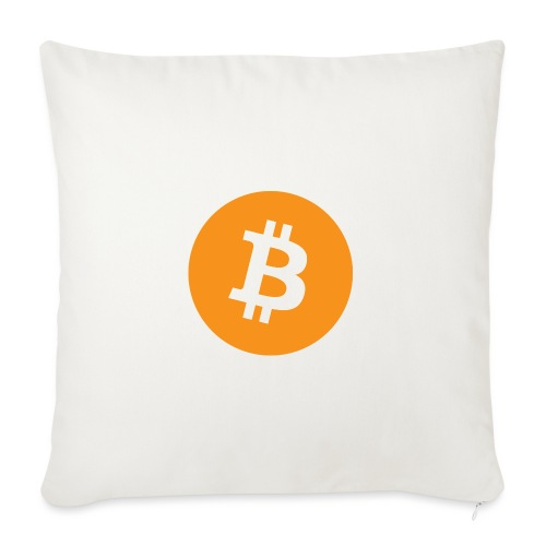 Bitcoin - Sofa pillowcase 17,3'' x 17,3'' (45 x 45 cm)