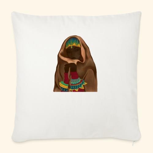 Femme bijou voile - Housse de coussin décorative 45x 45cm