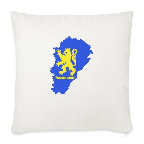 Carte Franche-Comté + lion - Housse de coussin décorative 45x 45cm