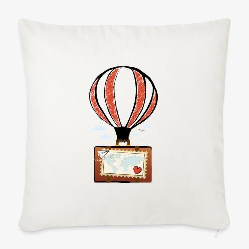 CUORE VIAGGIATORE Gadget per chi ama viaggiare - Copricuscino per divano, 45 x 45 cm