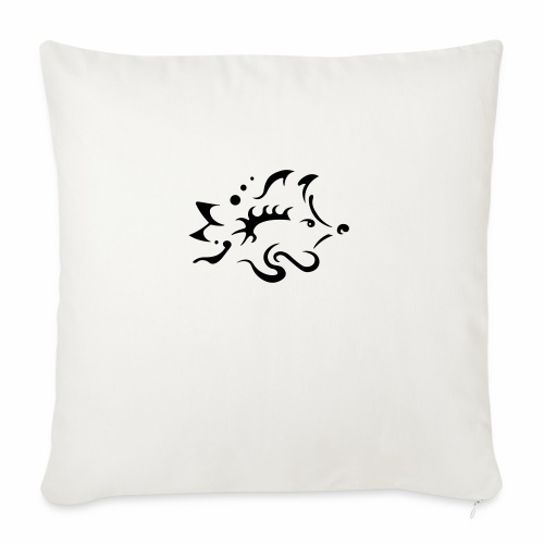 Hedgehog, pure tribal design - Sofa pillowcase 17,3'' x 17,3'' (45 x 45 cm)