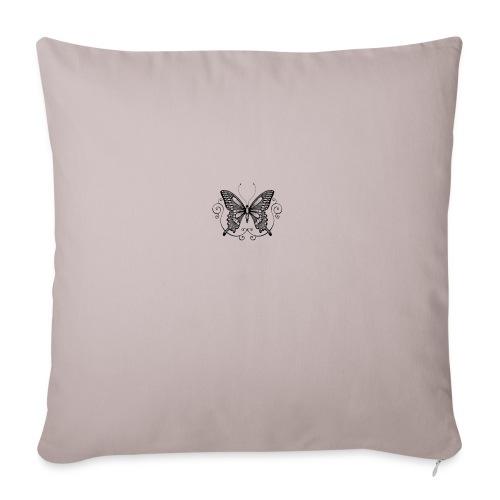 vlinder - Sierkussenhoes, 45 x 45 cm