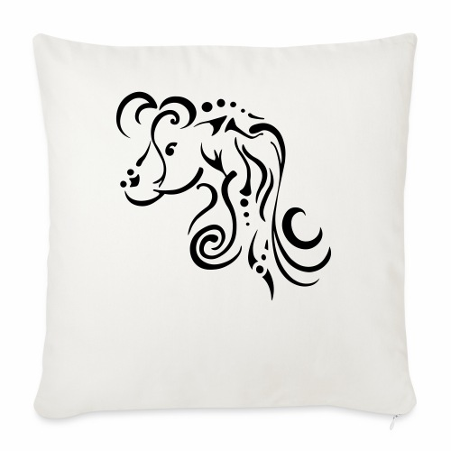 Mare, clean tribal design - Sofa pillowcase 17,3'' x 17,3'' (45 x 45 cm)