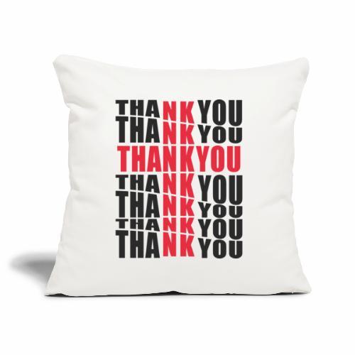 Motyw z napisem Thank You - Poszewka na poduszkę 45 x 45 cm