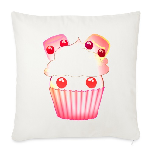 harajuku kawaii cupcake muffins med marshmallows - Sofa pillowcase 17,3'' x 17,3'' (45 x 45 cm)