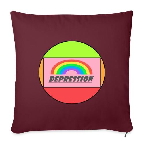 Depressed design - Sofa pillowcase 17,3'' x 17,3'' (45 x 45 cm)