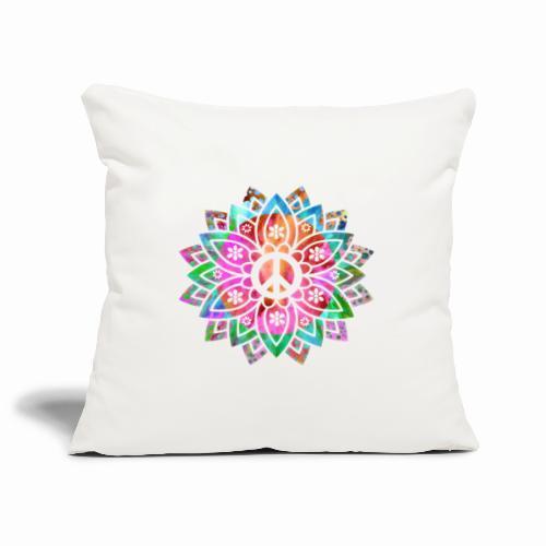 Peace Flower - Sofa pillowcase 17,3'' x 17,3'' (45 x 45 cm)