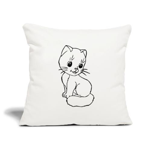 Katzen Symbol Katze süß Kützchen Haustier - Sofakissenbezug 44 x 44 cm