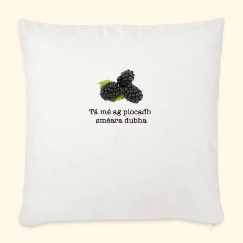 Picking blackberries - Sofa pillowcase 17,3'' x 17,3'' (45 x 45 cm)