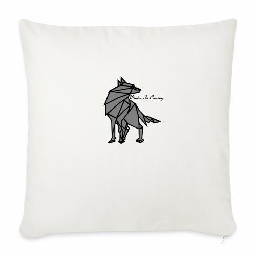 loup l'hiver vient - Housse de coussin décorative 45x 45cm