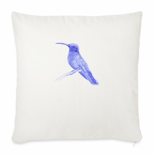 Hummingbird with ballpoint pen - Sofa pillowcase 17,3'' x 17,3'' (45 x 45 cm)